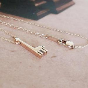 solid giraffe necklace - rose gold ..